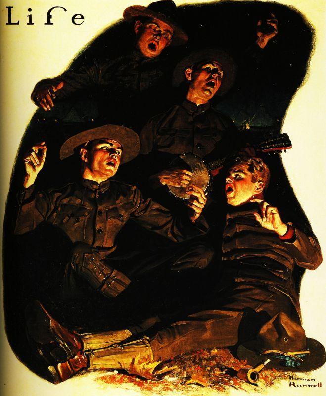 "Норман Роквелл. Ребята на фронте. Обложка журнала ""Life"""