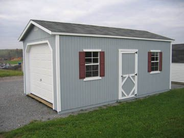 Classic 12' Wide Pre-cut One Car Wood Garage Kit