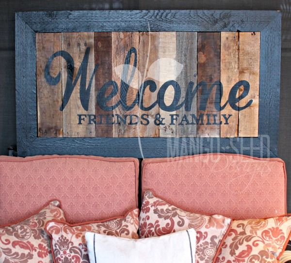 WELCOME FRIENDS & FAMILY PALLET ART