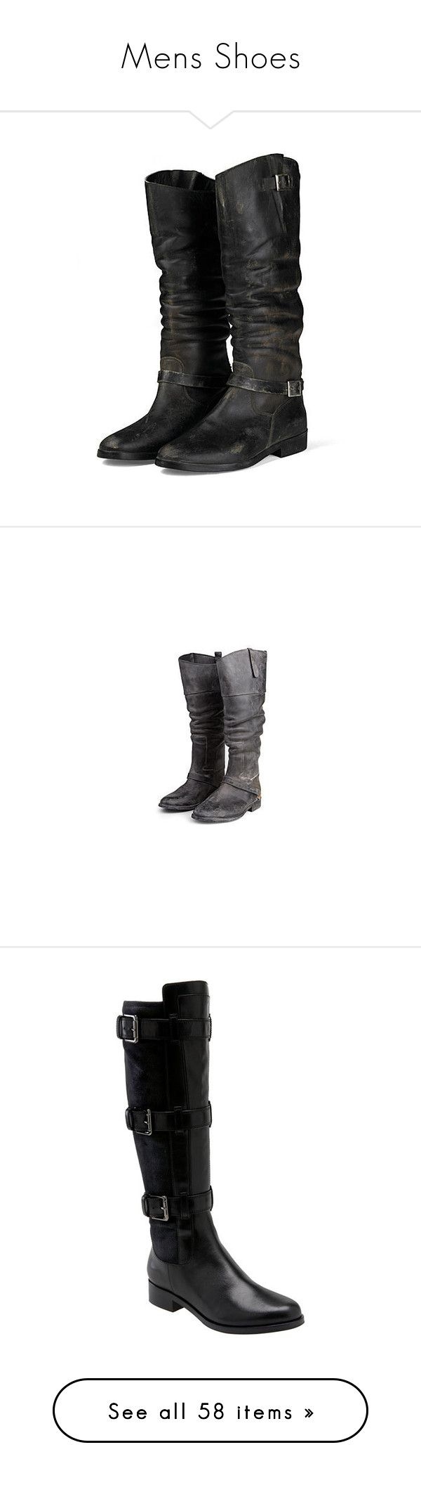 """Mens Shoes"" by cujokitten ❤ liked on Polyvore featuring shoes, boots, botas, black, sapatos, black riding boots, riding boots, real leather riding boots, black low heel boots and low heel boots"