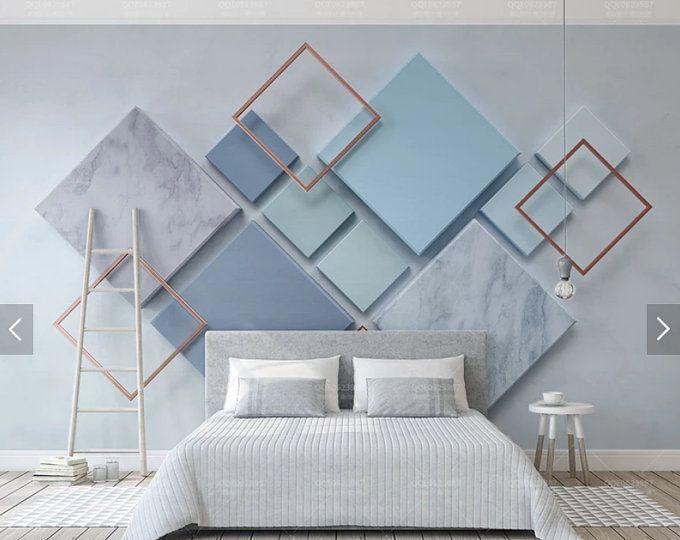 3d Abstrakte Geometrische Dreieck Tapete Wand Kunst Wandtattoos