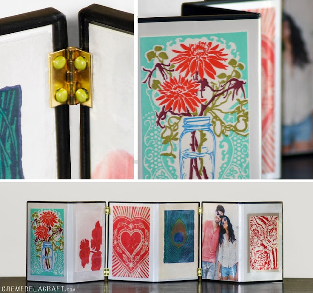 Accordion Pic Frames from DVD cases