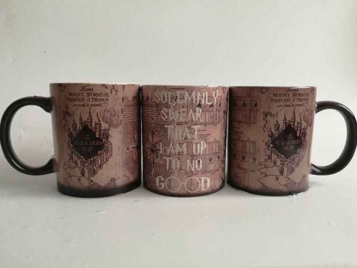 Hogwarts bardaklar marauders haritası kupa hogwarts kupalar isı değiştirme renk Seramik Çay Bardağı ısı ortaya dönüşümü kahve fincanları | 32743763026_he