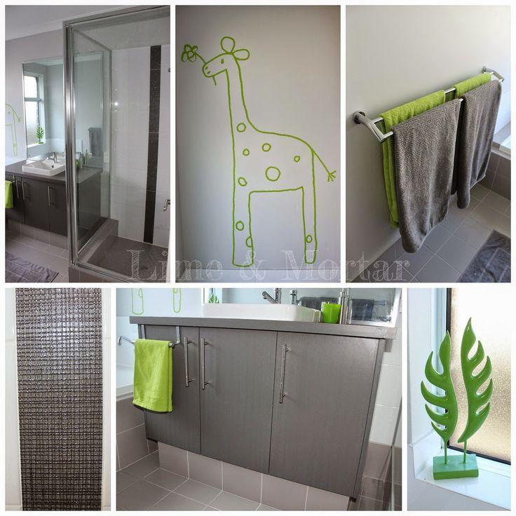 Lime & Mortar - kids bathroom, grey with a splash if lime (I would use yellow).