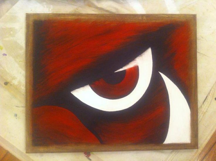 Arkansas Razorbacks. Hand painted hog eye with tusk. Original artwork by @hbOnTheBrink