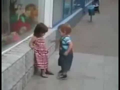 Valentine's Day funny Video - boys can be persistent even in diapers.