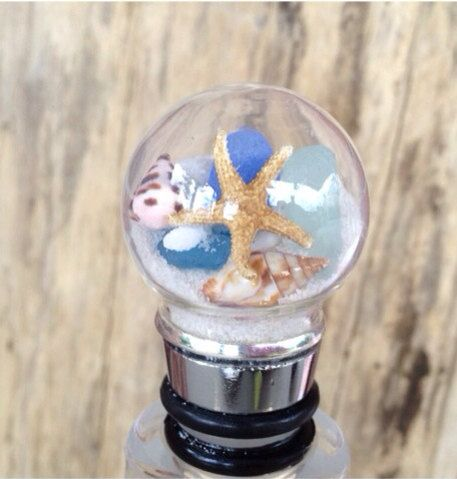 beach wine stopper with sand in it | Add it to your favorites to revisit it later.
