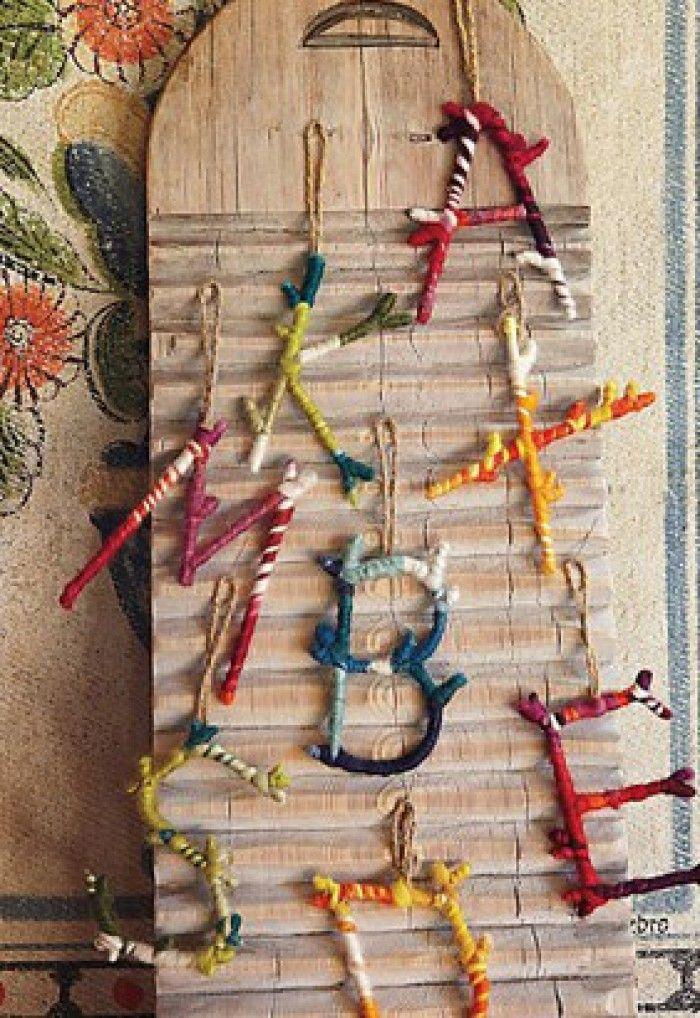 knutselwerkje hout en wol