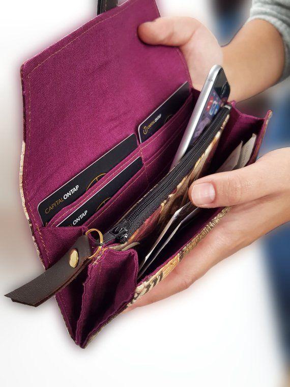 Ladies Clutch Wallet  Ladies purse  Alexander Henry print