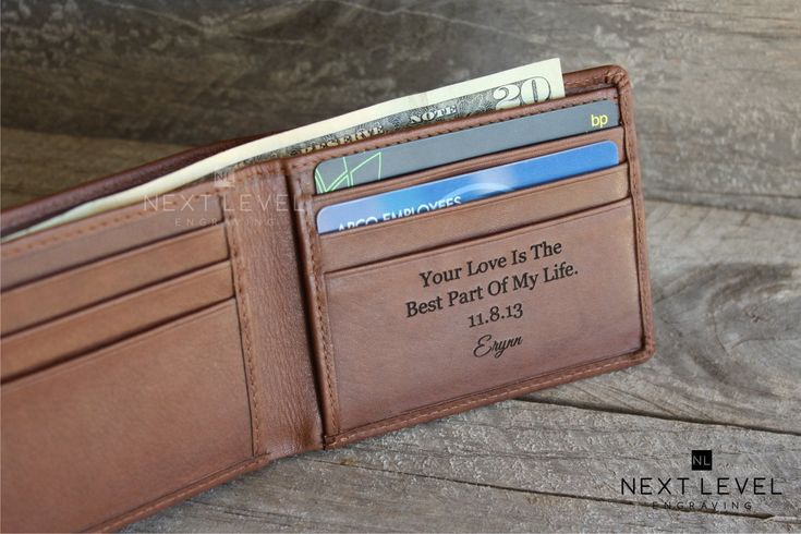 Mens Wallet Personalized Gift for Men Wallet Leather, Unique Gifts for Men, Mens Wallet Bifold, Birthday Gifts for Boyfriend, Mens Gift idea