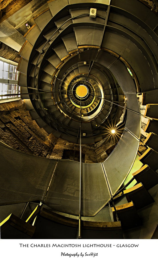 Another incredible architectural image of my hometown.... Charles Macintosh Lighthouse, Glasgow, Scotland
