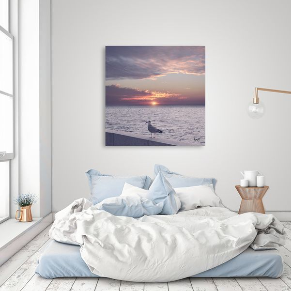 Discover «Pastel vibes 36 - La gaviota», Numbered Edition Canvas Print by Viviana Gonzalez - From 45€ - Curioos