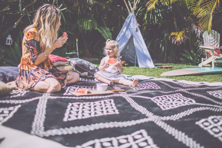 I love her dress, the blanket, teepee, kiddo. All is so cute!