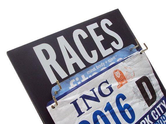 A Race Bibs Hanger definite must for runners by runningonthewall, $28.00