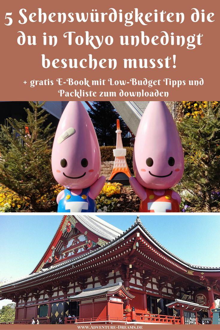 Die 5 schönsten Orte in Tokio die du unbedingt besuchen solltest! Ob Hachiko, Tempel, Ueno oder der Tokyo Tower. Die Stadt hat so viele Attraktionen und Kultur zu bieten und das Essen nicht vergessen :) Die Hauptstadt Japans ist immer ein Besuch wert!