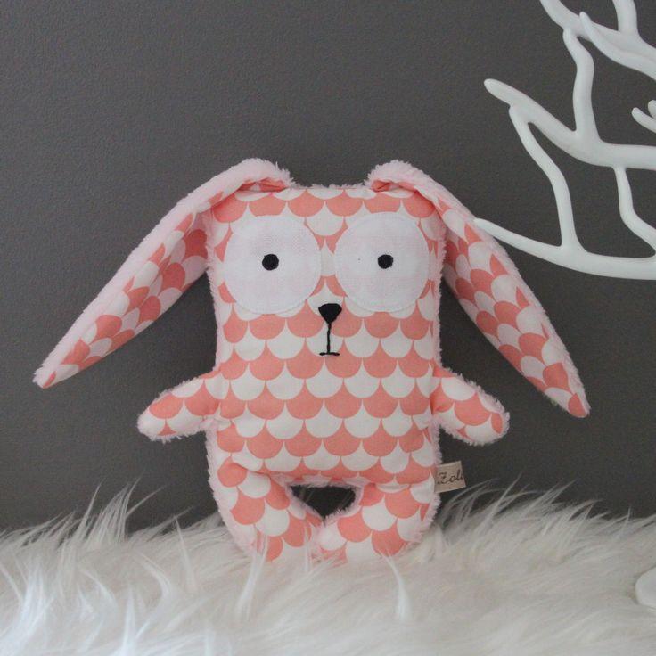 Doudou lapin scandinave cadeau de naissance : Jeux, peluches, doudous par zole