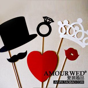 Get married supplies wedding a Party Queen creative Funny take pictures wedding Yingbin Ou props HZ08
