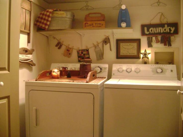 Marvelous Country Laundry Room Decorating Ideas Part - 1: A Primitive Place ~ Primitive U0026 Colonial Inspired Laundry Rooms