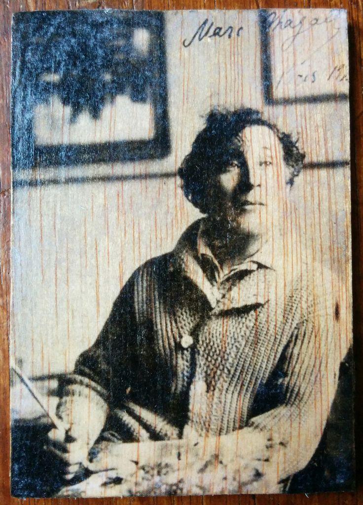 Marc Chagall  - Photo transfer on wood. Handmade.