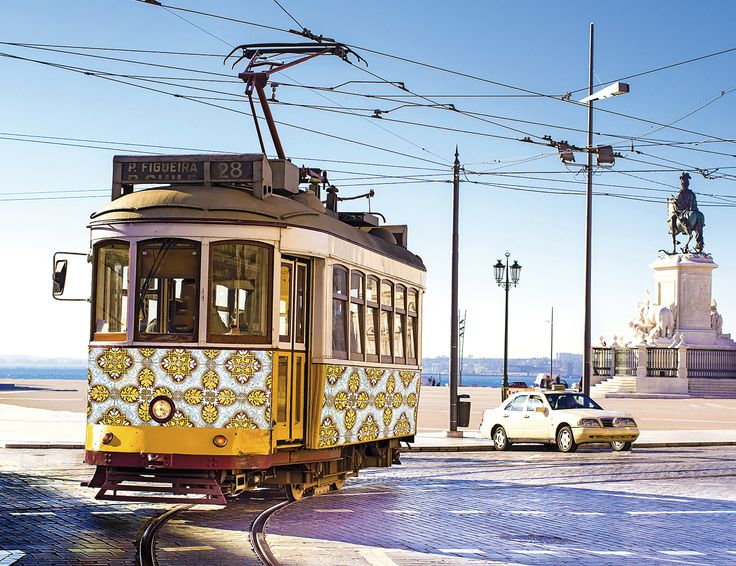Famous cable cars still beautify the city of Lisbon - Portugal