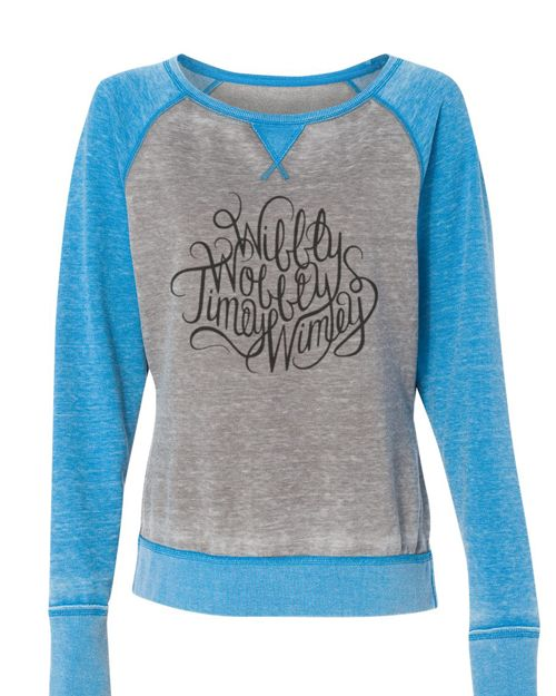 Doctor Who - Wibbly Wobbly Timey Wimey Supersoft sweatshirt - off shoulder wide neck