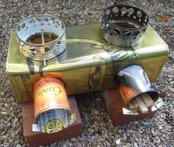 double rocket stove