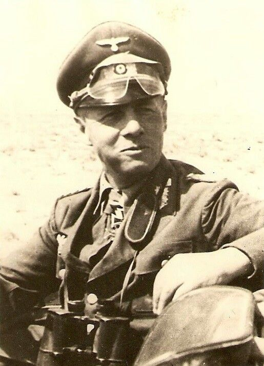 "Field Marshal Erwin Rommel (also known as ""the Desert Fox"") the leader of the Afrika Korps"