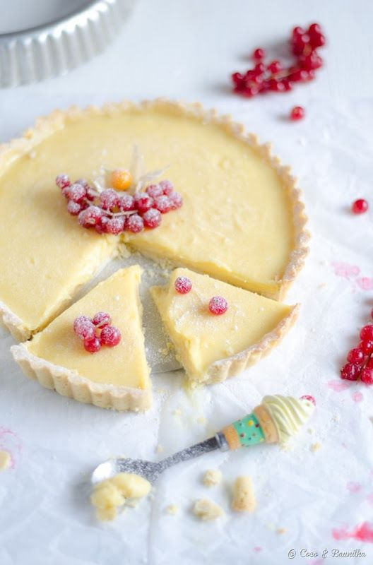 ... white chocolate lemon tart ...