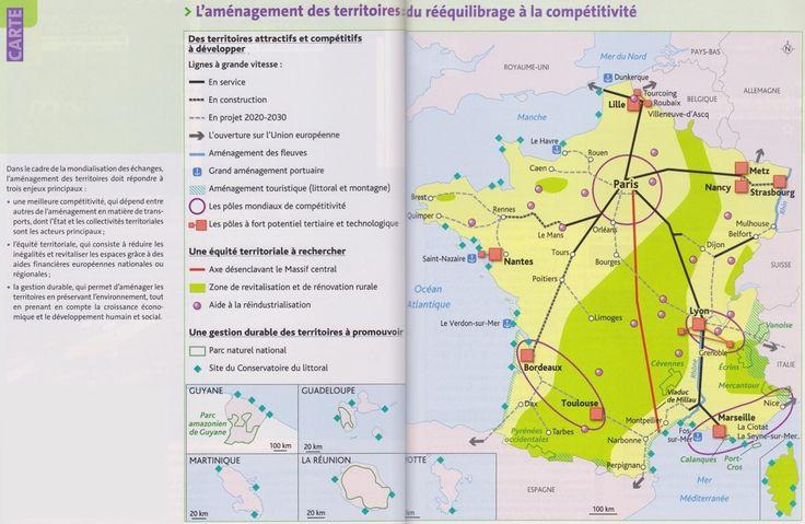 TBacPro-G2 : L'aménagement des territoires : du rééquilibrage à la compétitivité. (Source : votre manuel Hachette technique)