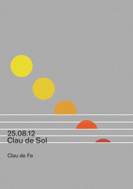 Clau de Sol Poster | Music at dawn Festival by MARIN DSGN, via Flickr