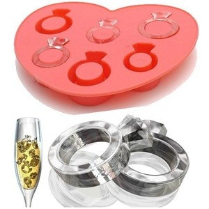 Love Ring Shape Ice Jelly Cube Trays Chocolate Mold Silicon | eBay