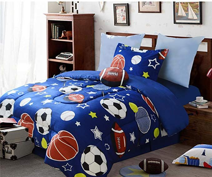 All American Collection 3 Piece Twin Size Comforter Set With Plush