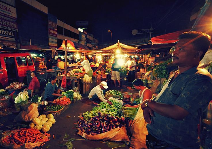 Night market in Jakarta, Indonesia - Jakarta seemed to come alive in the relative cool of the evening.
