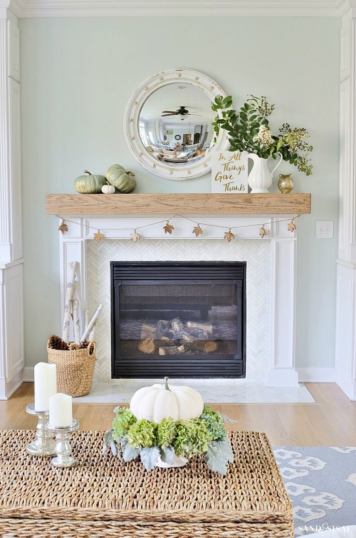 Neutral Fall Decorating 244 best Mantels for