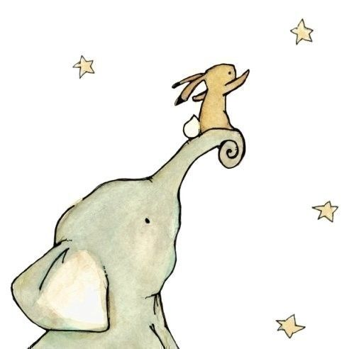 Children's Art Reach For The Stars 13x19 Art by trafalgarssquare, $36.00