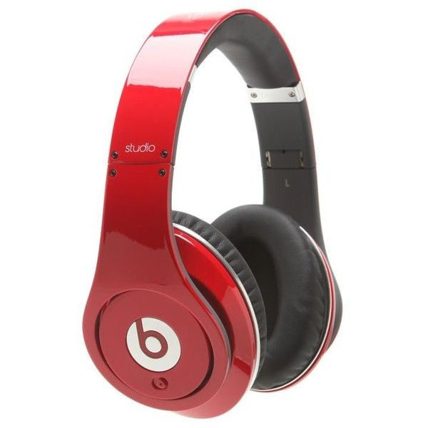 Beats by Dr.Dre Studio Red Headphones ($300) ❤ liked on Polyvore featuring men's fashion, men's accessories, men's tech accessories, beats, headphones and red