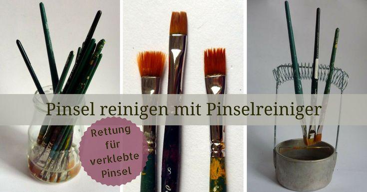 Pinsel reinigen mit Pinselreiniger für Acrylfarbe - Pinselpflege