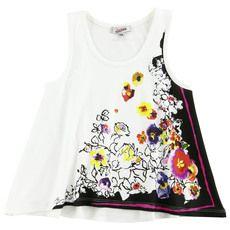 Junior Gaultier - Débardeur en jersey stretch imprimé à fleurs - 29953