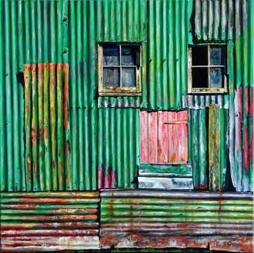 Libby McColl, New Zealand Artist - 'The Woolshed'