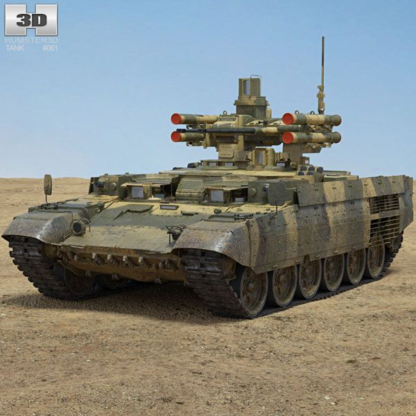 BMPT Terminator 3d model from Hum3d.com.