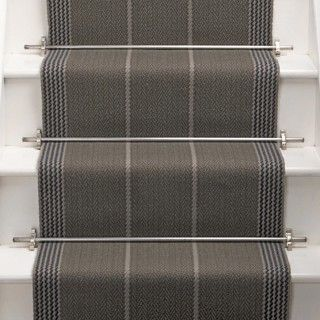 Products | Runners for stairs and halls | Neutral/Black | Swanson: Smoke - Roger Oates Design