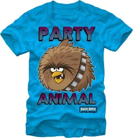 Amazon.com: Fifth Sun Men's Chewie Party Angry Bird Star Wars Tee: Clothing