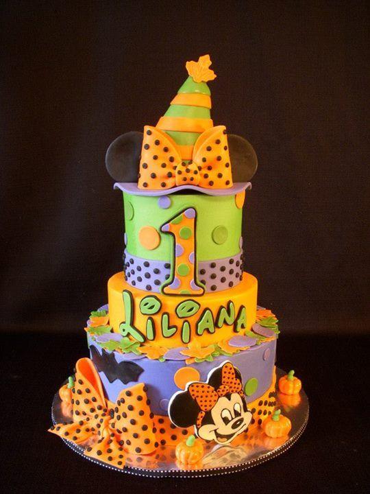 Cute Halloween Birthday Cakes Minnie Mouse Halloween Mickey Cakesnd