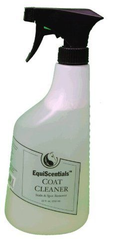 EquiScentials Coat Cleaner 22 oz by EquiScentials. $10.99. Natural shine. Quick spot removal. EquiScentials Coat Cleaner is a mild, leave-in cleaning alternative to completely shampooing and bathing the horse. It is effective in removing stains and filth by massaging it into the coat, gently toweling the area dry , followed by brushing.  - Dries quickly - Provides a natural shine - Works well in combination with all ATH Products