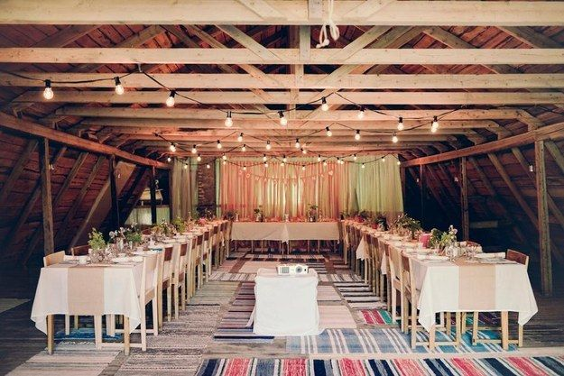 Looking for inexpensive tablecloths? Use Knoppa sheets instead! | 25 Clever Ways To Use Ikea Products At Your Wedding