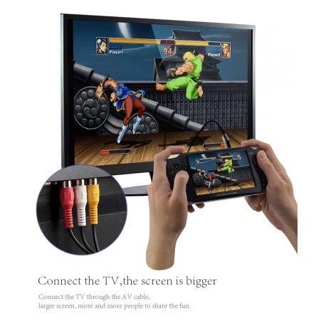 4.3 pouces Console de jeux portable 4 GB 32 Bit Support TV Out Put Built In 10000 Games Double Rocker vendu comme sur l'image
