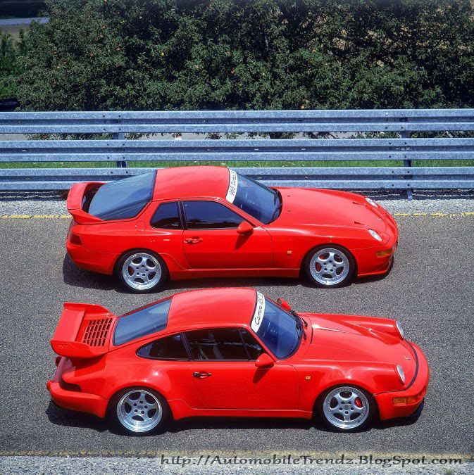 PORSCHE 968CS (looks like It could be one of the uber-rare Turbos...) and 964 Turbo