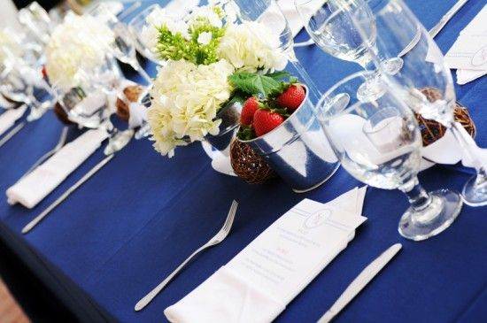 Elegant red, white & blue table setting #PerfectWeddingWedding Tables, Blue July, Blue Tables Sets, Red White Blue, Ideas Blue, 4Th Of July, Blue Weddings, Blue 4Th, Colors Ideas