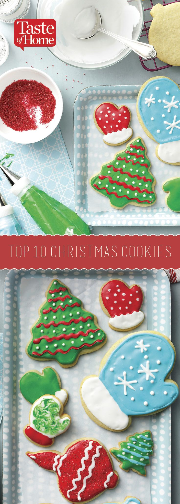 Top 10 Christmas Cookies (from Taste of Home)