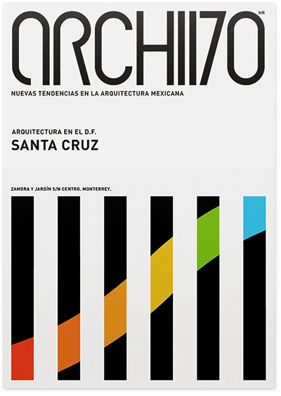 Poster series for Archivo, a Mexican architectural exhibition held at the Museum of Contemporary Art in Mexico, designed by Network Osako